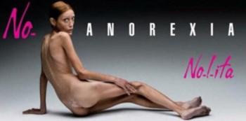 Cartaz que popularizou a luta de caro contra a anorexia