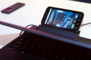 O telemóvel Atrix pode ligar-se a um ecrã e teclado, transformando-se num portátil