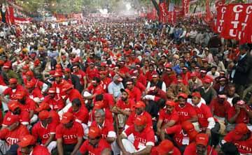 O Sindicato do Centro Indiano espera um milhão de pessoas nesta manifstação