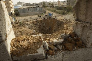 Os estragos em Gaza depois dos ataques aéreos de Israel