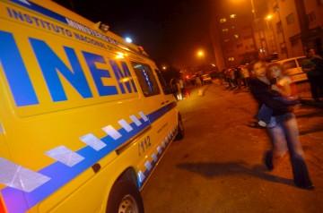 A ambulância foi obrigada a retirar-se para dar passagem à viatura ministerial