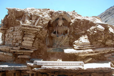 Parte do complexo budista em Mes Aynak