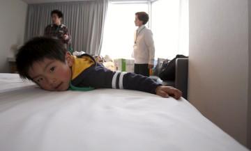 Alguns desalojados do sismo e tsunami estão abrigados em hotéis