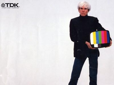 (detalhe) Andy Warhol Japanese advertisement forTDK (1982)