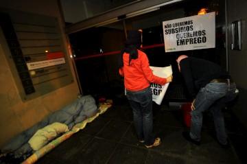 O movimento já tinha invadido em Março as instalações do BPN