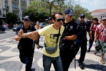 A intervenção policial no Rossio, em Lisboa, no dia 4 de Junho
