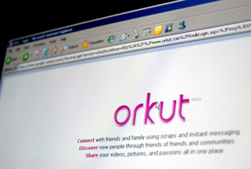 Orkut tem muito sucesso no Brasil