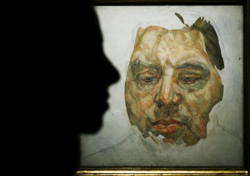 Um retrato do artista Francis Bacon pintado por Lucian Freud, em Londres<b>Luke MacGregor /Reuters (arquivo)</b>