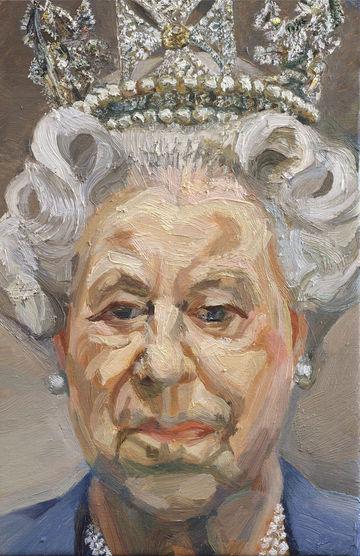 Uma pintura da Rainha Isabel II de Lucian Freud da colecção real<b>Luke MacGregor/Reuters</b>