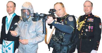 Algumas das imagens publicadas por Breivik
