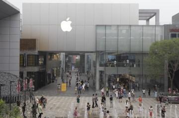 <p>A loja de Beijing é uma das duas lojas oficiais da Apple em solo chinês</p>
