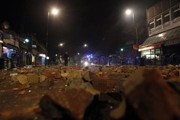 Esta manhã ainda se registam incidentes isolados em Tottenham