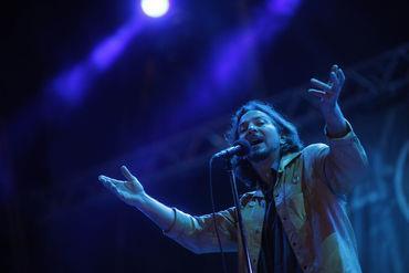 Eddie Vedder na última passagem dos Pearl Jam por Portugal, no Festival Optimus Alive 2010