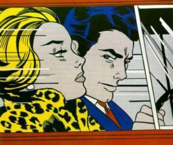 """""""In The Car"""", um quadro de Roy Lichtenstein"""