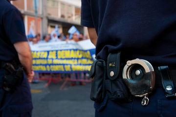 As forças policiais protestam hoje junto à Assembleia da República