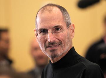 Steve Jobs num evento na sede da Apple a 8 de Abril de 2010