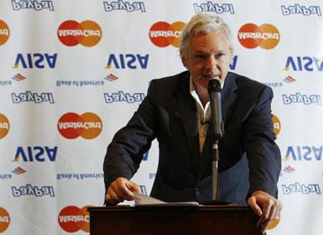 Assange diz que a organização se vai concentrar na recolha de fundos