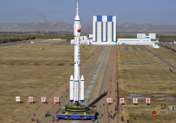 O foguetão Long March II-F vai enviar o satélite chinês