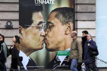 """O """"beijo"""" de Hu Jintao e Obama"""