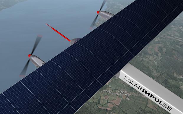 O Solar Impulse pode atingir uma altitude de 8500m