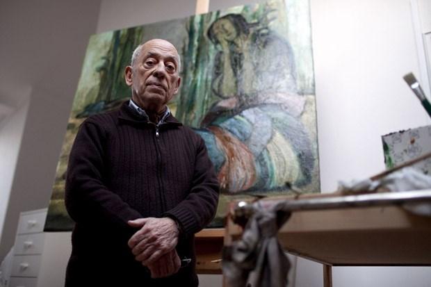 O artista plastico Querubim Lapa no seu atelier