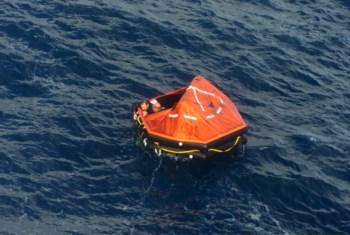 Os homens foram encontrados ao final da manhã de hoje, vivos, a bordo de uma balsa
