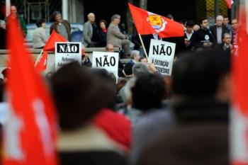 Contestação já tinha saído à rua, como no Porto, em finais de Novembro