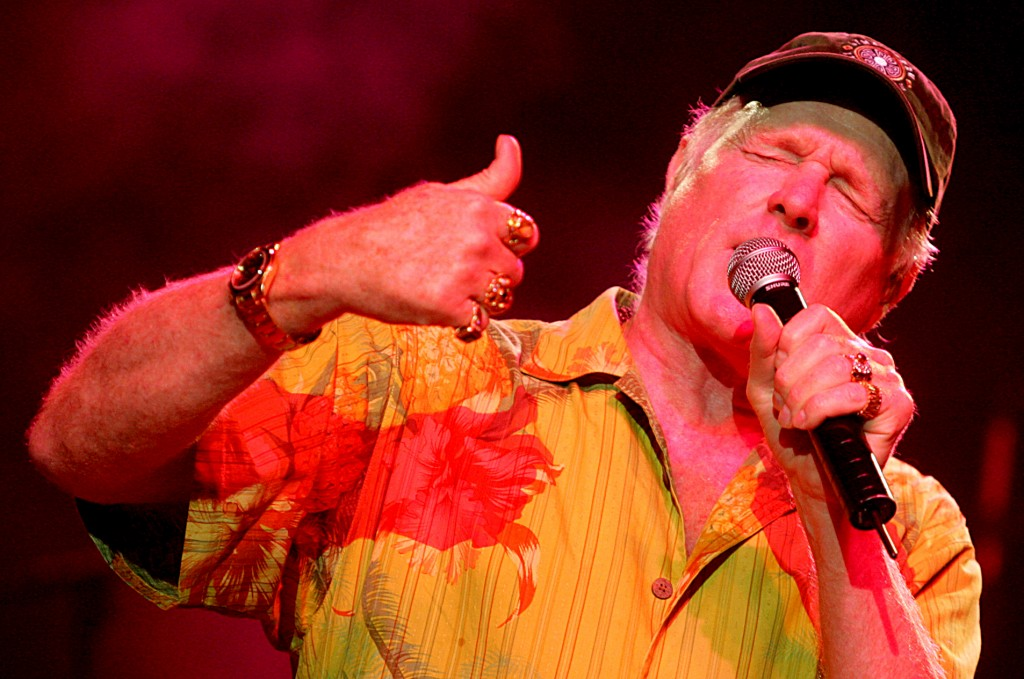 Mike Love, num concerto dos Beach Boys no Coliseu dos Recreios, em 2005