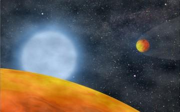 Representação dos planetas agora encontrados