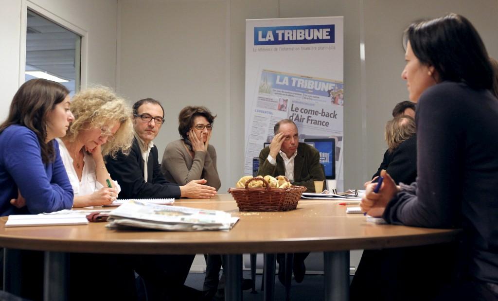 A reunião de preparação da última edição impressa