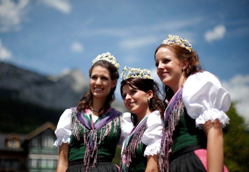 Áustria em cortejo de narcisos