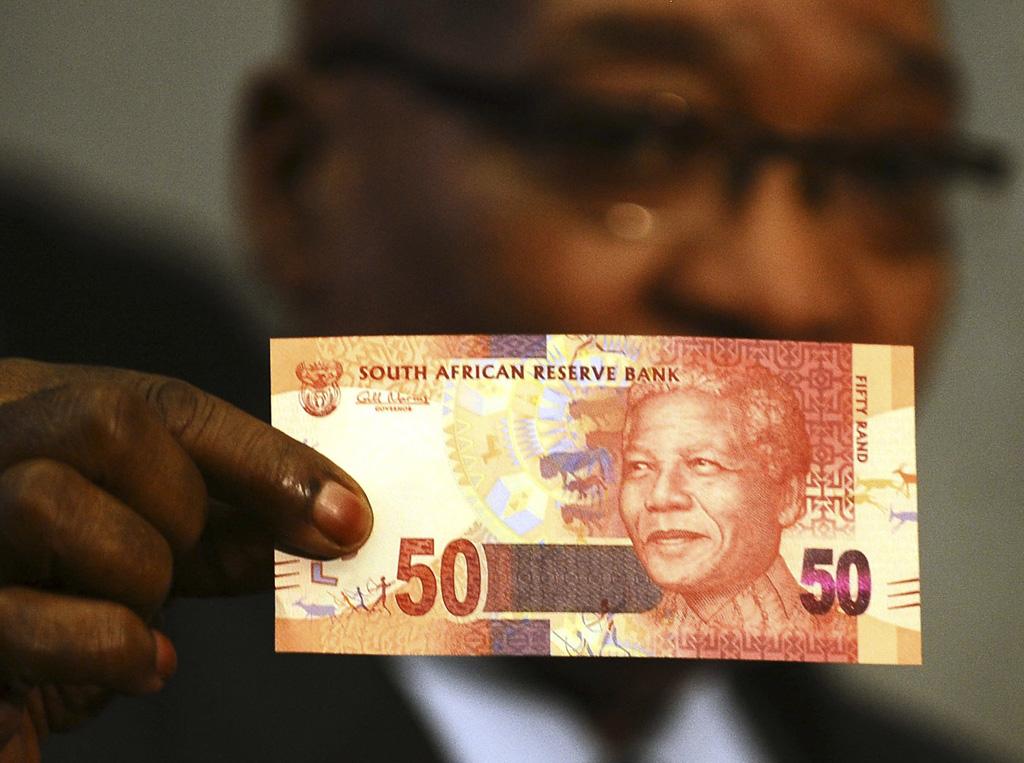 Jacob Zuma mostrou o modelo da nova nota de 50 rands