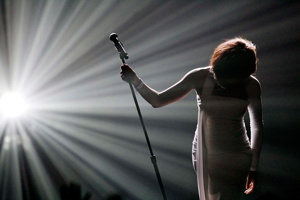 Durante um concerto nos Grammy, em 2011