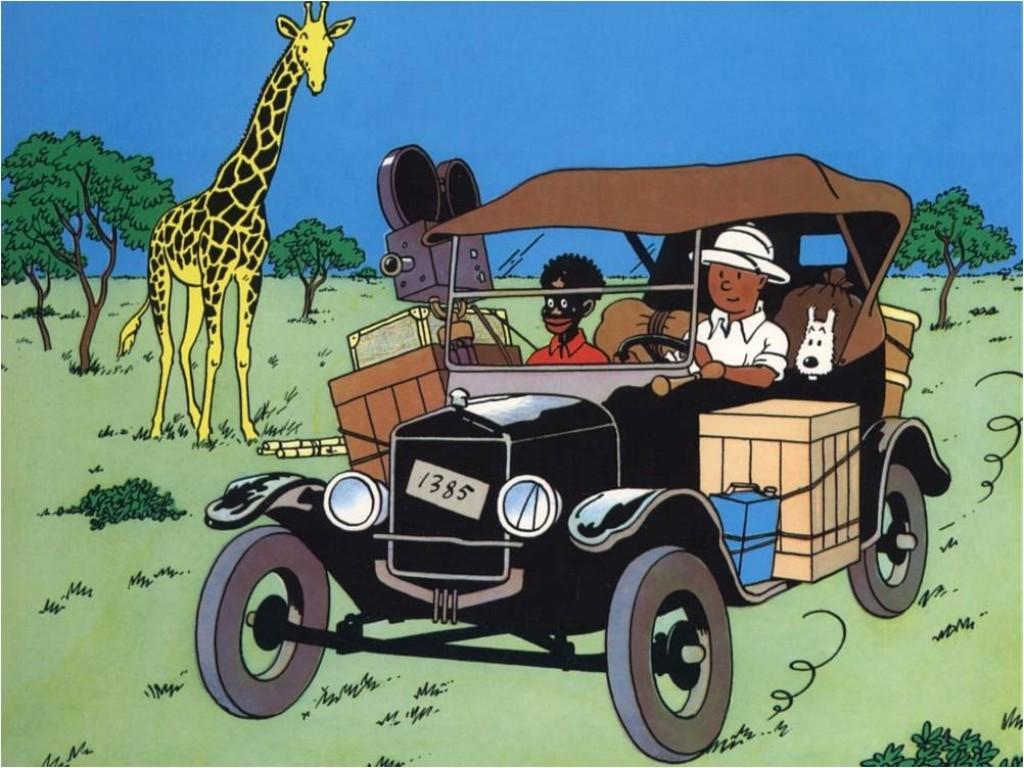 O Tintin no Congo foi publicado em 1931