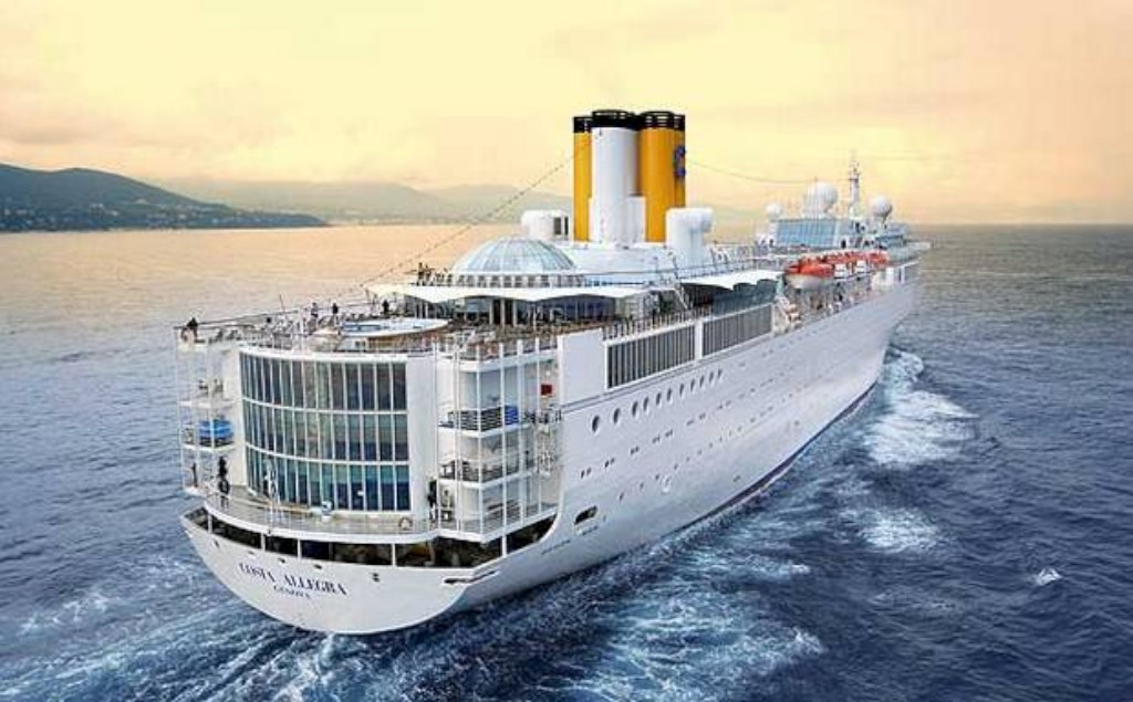 O navio Costa Allegra, da empresa Costa Cruzeiros