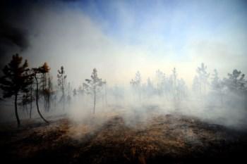 O fogo no Parque Natural de Montesinho lavra em três frentes