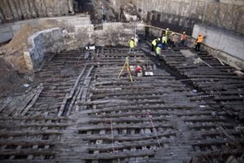 A enorme rampa servia no século XVI para lançar barcos ao rio