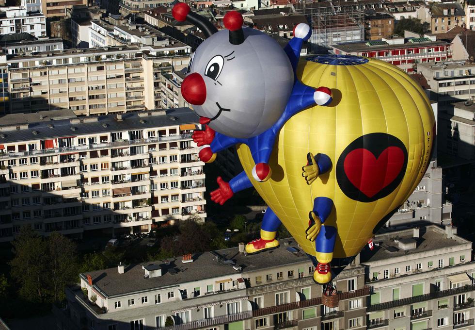 Voam balões sobre Genebra