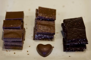 O chocolate preto pode ter efeitos benéficos, mas não está relacionado com a quantidade