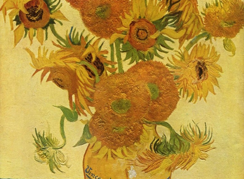 Um detalhe do quadro do Van Gogh