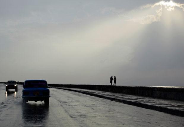 Cuzando El Malecón depois da chuva (Abril 2011)