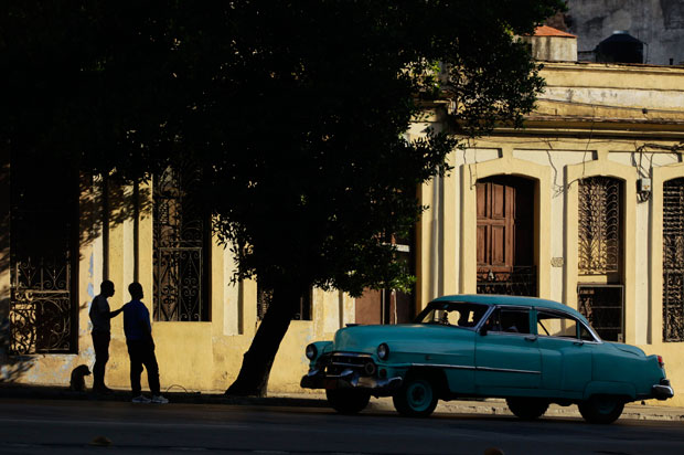 Um táxi privado cubano