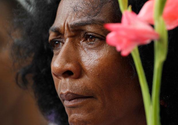 Uma das ´Damas de Blanco´, grupo formado por familiares de dissidentes presos. Todas as semanas as Damas de Blanco protestam pacificamente em Havana (Julho 2010)