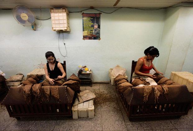 Fábrica de tabacos da Partagás, uma das mais antigas produtoras de charutos de Havana