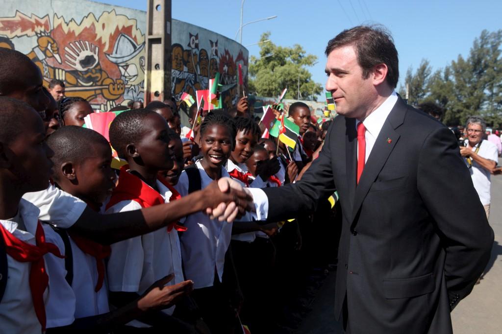 <p>Pedro Passos Coelho chegou hoje a Maputo</p>