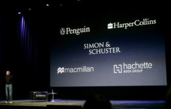 Steve Jobs a apresentar a parceria com as editoras, em Janeiro de 2010