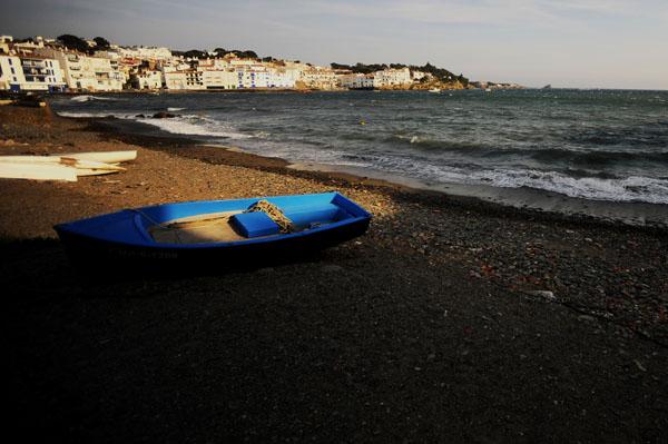 Na praia junto à casa-museu, onde o pintor passeava