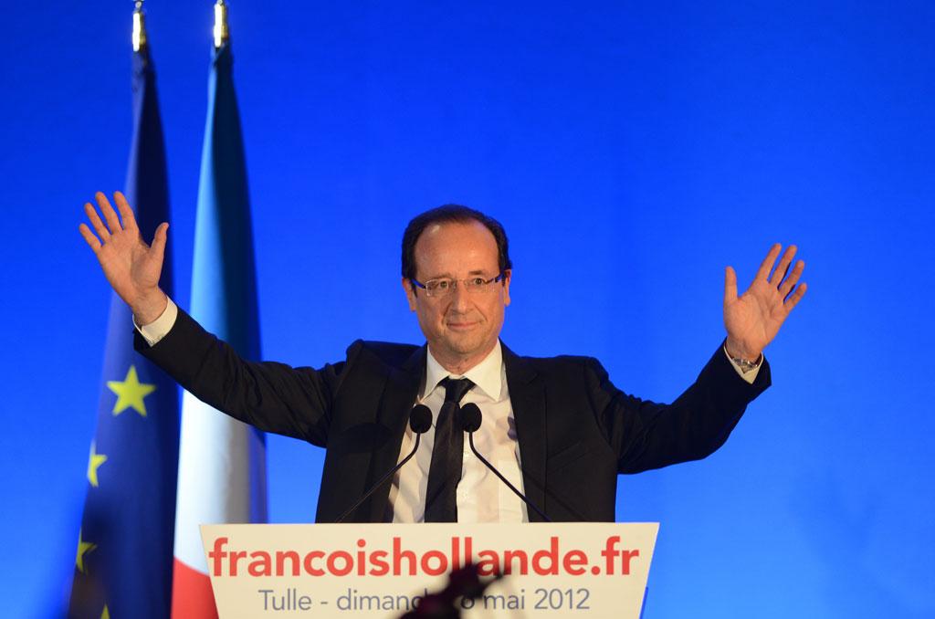 François Hollande, no discurso da vitória