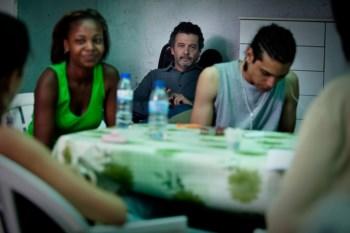A rodagem do filme de João Canijo (ao centro), em 2010