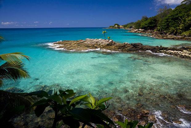 O esplendor azul das Seychelles